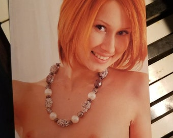 Pretty Naked Redhead with Small Tits 4x6 Photo