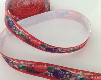 Ribbon GROSGRAIN sold by the yard, width 22 mm Cars