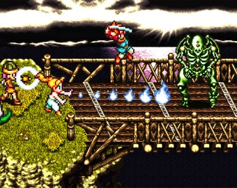 Video Game Print - Chrono Trigger - Digital Art Print - Super Nintendo Tribute