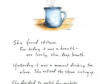 Greeting Card: She Found Stillness