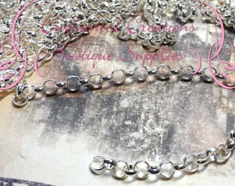 7mm x 2mm Silver Rolo Chain 1 yard