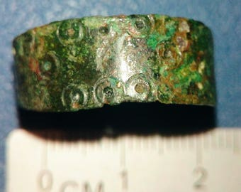 Medieval Scandinavian bronze ring of the 10th-11th century