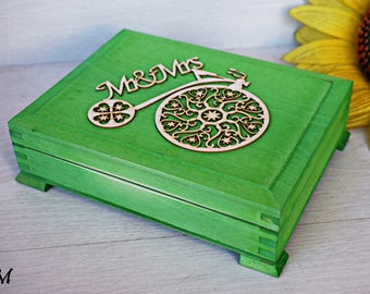 Double rustic ring box, Wedding ring box, Rustic bearer, Mr. & Mrs. ring box, Wedding ring holder, Ceremony ring pillow, Country wedding box