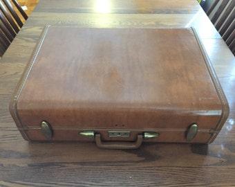 Vintage Samsonite Hard Shell Large Suitcase, 1950s