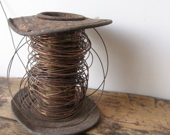 Old spool of copper wire