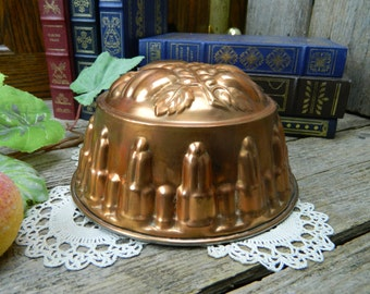 Vintage Kreamer Copper and Tin Jelly Mold