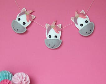 Unicorn Garland, gift for baby, unicorn decoration, unicorns for nursery, gift for newborn, unicorns for nursery