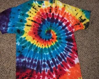 Multicolored Tie Dye Swirl