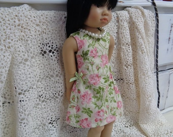 Rose garden party  Dress- for 18 inch  Slim Dolls--Fits Kids N cats Dolls