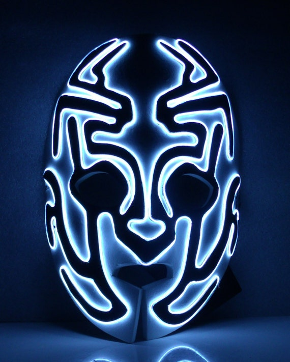 Foam Alien Glow El wire light up mask
