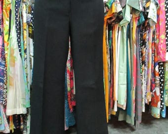 Pantaloni in gabardine anni 70.Zampa d'elefante.Unisex.Fondo magazzino.Tg 48/70s gabardine pants/Flared/Unisex/Deadstock/Red brick/Size 34 erVYyTlNCL