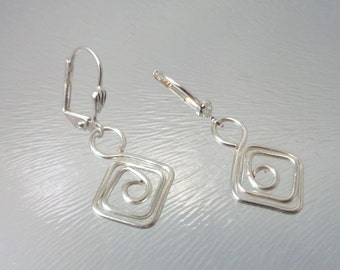 Silver Wire Drop Earring