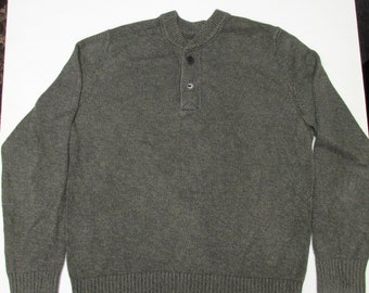 Men's Eddie Bauer Henley Cotton Sweater
