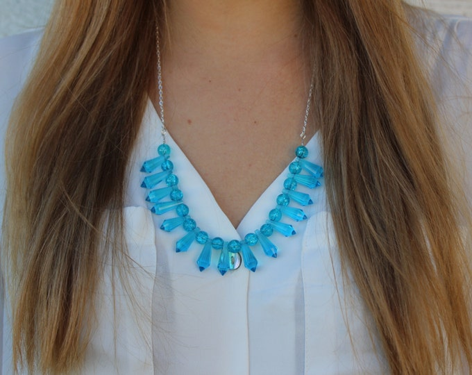 Electric Blue Statement Necklace.