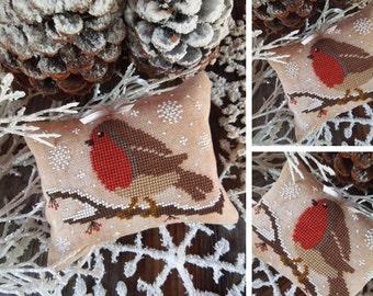 Winter Robin - PDF DIGITAL Cross Stitch Pattern