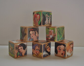 Snow White // Wooden Blocks // Toys // Baby Shower Gift // Nursery