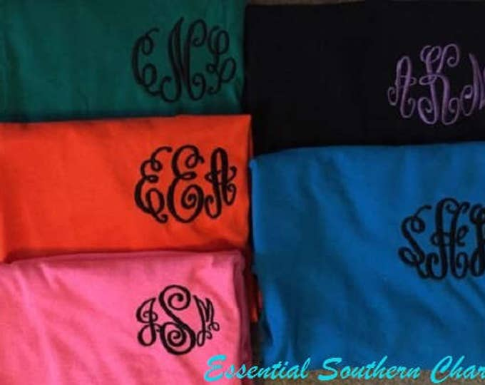 Monogram Shirt | Embroidered Long Sleeve Tshirt | Personalized | Initials | Gift for Her | Personalized Gift
