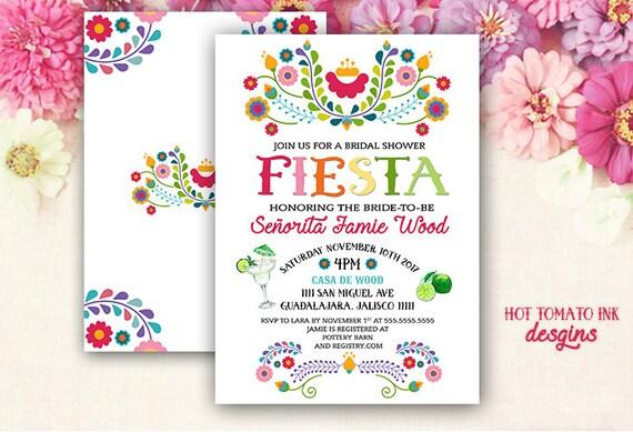 Fiesta Invitation Fiesta Bridal Shower Invitation Cinco de
