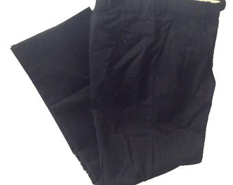 28 x 30 Tailored Fit Greg Peters Black Dress Pants