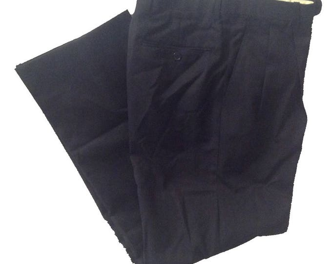 28 x 30 Tailored Fit Greg Peters Black Dress Pants