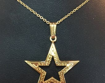 Star Necklace 14k Gold over Sterling Silver