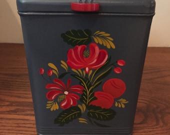 Vintage Kreamer Painted Canister