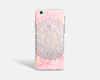Mandala iPhone 7 Case Clear iPhone 8 Case Clear iPhone 7 Plus Case iPhone 6S Plus Case iPhone X Case Samsung Galaxy S8 Case Samsung S9 Case