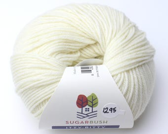 15%OFF Superwash Merino Wool in Crisp- Creme Off White DK Double Knit  Weight Yarn 95 yards 87 Meters 50gram Ball for knitting