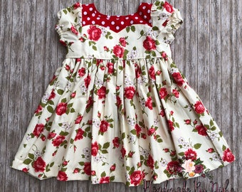 valentines day dress, valentines outfit, rose print dress, floral print dress, sweetheart dress