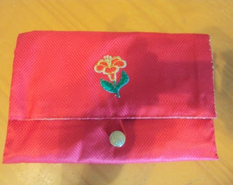 081 Red Clutch Purse/Bible Carrier