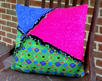 geometric rag pillow cover Sale