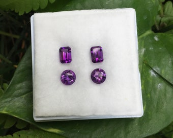 Pair of sweet purple Amethyst total weight 3.74 ct.
