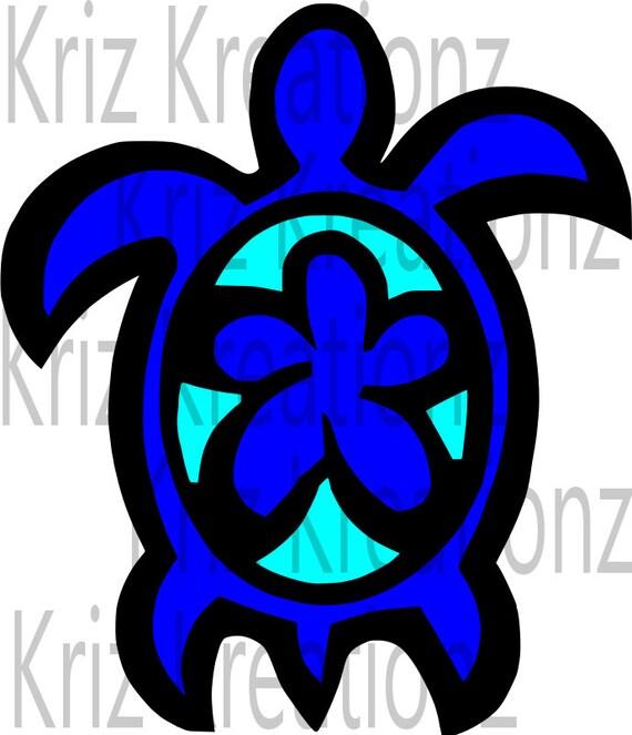 Hawaiian Turtle Honu Svg Cut File