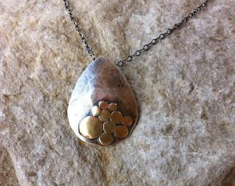 Sterling & Bronze Teardrop Necklace