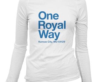 Women's Kansas City Baseball Stadium Long Sleeve Tee - LS Ladies T-shirt - S M L XL 2x - KC Shirt, Fan, Sports - 3 Colors