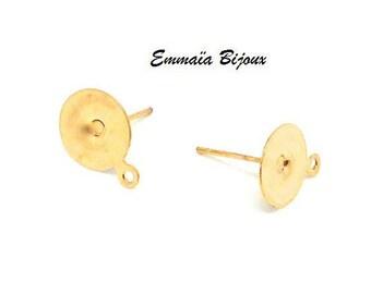 30 Golden pins 11 x 9 mm earrings