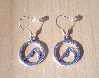 Yoga Earrings, Work Out Earrings, Charm Earrings, Jewelry Findings