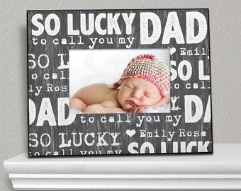 Personalized So Lucky To Call You My Dad Picture Frame, Father's day gift, dad gift, personalized, new dad, custom, personalized  -gfy494630