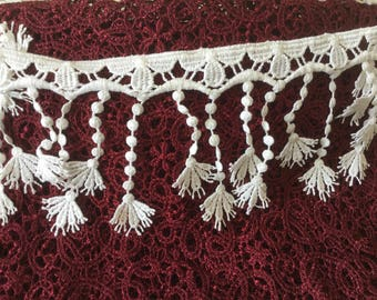 White lace fringe