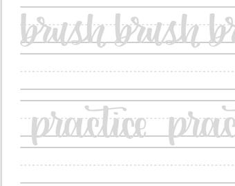 Letter Guide - Lettering Workbook - Traceable