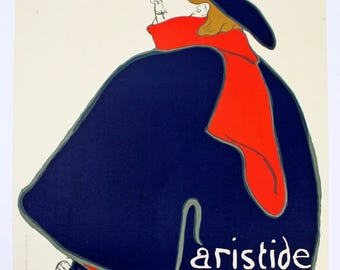 Unframed Aristide Bruant dans son Cabaret Stamped by Museum Toulouse Lautrec