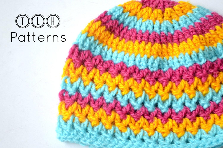 Crochet baby hat pattern, crochet hat pattern, crochet beanie, V ...