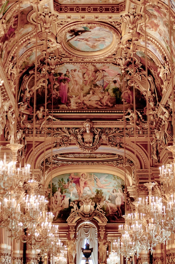 Paris photography chandeliers at the opera garnier ornate aloadofball Images