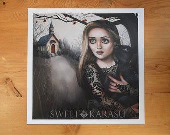FINE ART PRINT- Valentina- Beautiful gothic art print