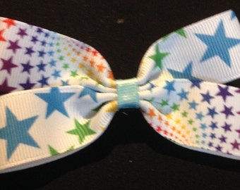 Star print boutique bow