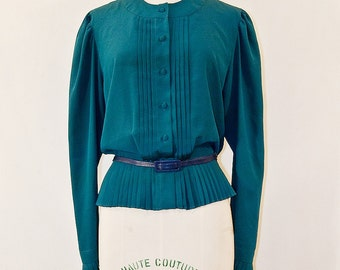 Green 80s Blouse
