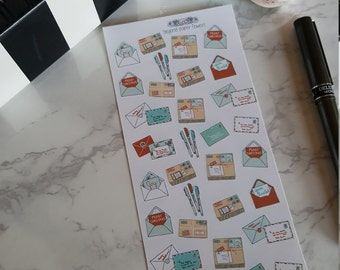 32 Small Holiday Happy Mail Stickers