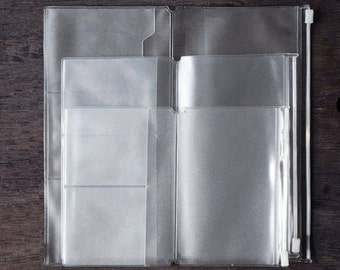 Travelers PVC Pouch and Card Holder for Midori Travelers Notebook - PJ001