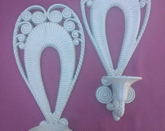 Vintage candlestick sconces made by Burwood Products Company