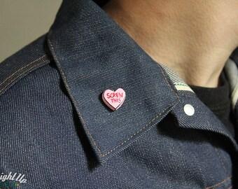 Enamel Pin Feminist Conversation heart